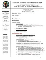 curriculum & instruction consent agenda - Osceola County School ...