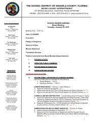 facilities regular agenda items - Osceola County School District