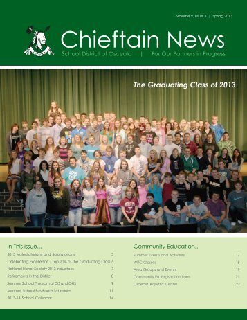 Download a Complete Copy of the Osceola School District Newsletter