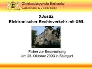 XJustiz: Elektronischer Rechtsverkehr mit XML - OSCI