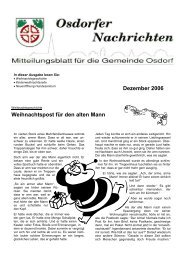 Dezember 2006 Weihnachtspost für den alten Mann - Osdorfer ...