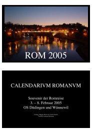 Romkalender 2005