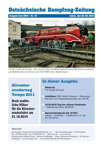 Ostsächsische Dampfzug-Zeitung