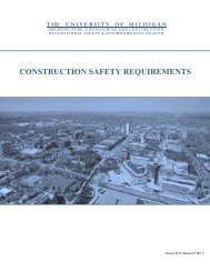 construction safety requirements - OSEH - University of Michigan