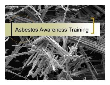 Asbestos Awareness Training - OSEH