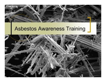 Asbestos Awareness Training - OSEH