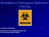 Hepatitis B Vaccination - OSEH - University of Michigan