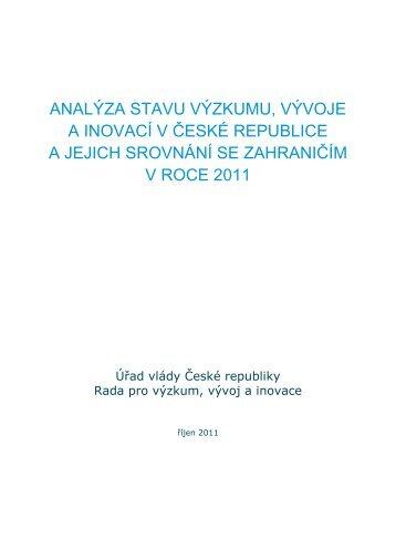 Analýza stavu výzkumu - Výzkum a vývoj v České republice