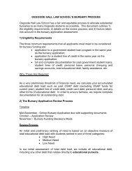 Bursary Application Process - Osgoode Hall Law School