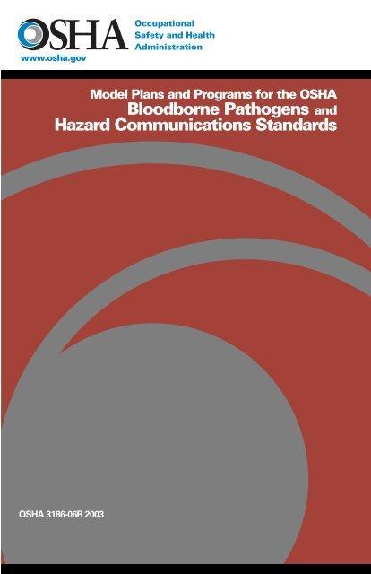 Model Plans and Programs for the OSHA Bloodborne Pathogens