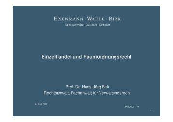 I Kommunalrelevante Konstellationen - Eisenmann Wahle Birk ...