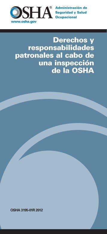 Derechos y Responsabilidades Del Empleador - OSHA