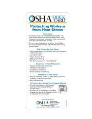 Protecting Workers from Heat Stress - OSHA