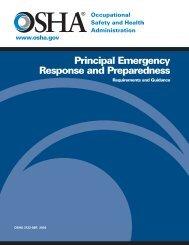 Principal Emergency Response and Preparedness - OSHA