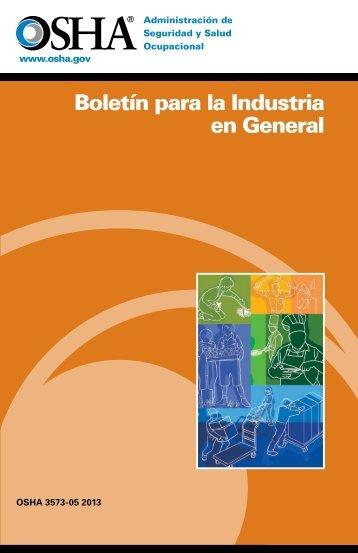 Boletín para la Industria en General - OSHA