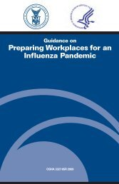 Guidance on Preparing Workplaces for an Influenza Pandemic - OSHA