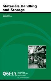 Materials Handling and Storage - OSHA