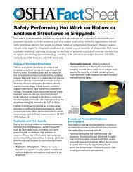 Safely Performing Hot Work on Hollow or Enclosed ... - OSHA