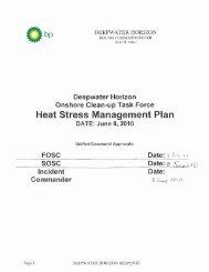 Heat Stress Management Plan - Houma - OSHA
