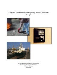 Shipyard Fire Protection Frequently Asked Questions (FAQs) - OSHA