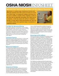 OSHA/NIOSH Spirometry InfoSheet