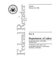 Final Rule - OSHA