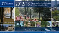Waste Collection Calendar & Information Guide - City of Oshawa