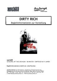 Begleitmaterial Dirty Rich - Dschungel Wien