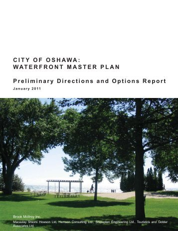 Waterfront Master Plan Preliminary Directions and ... - City of Oshawa