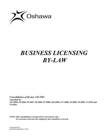 Business Licensing - City of Oshawa