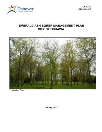 EAB Management Plan - City of Oshawa