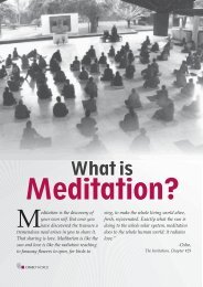 what is meditation - Osho World