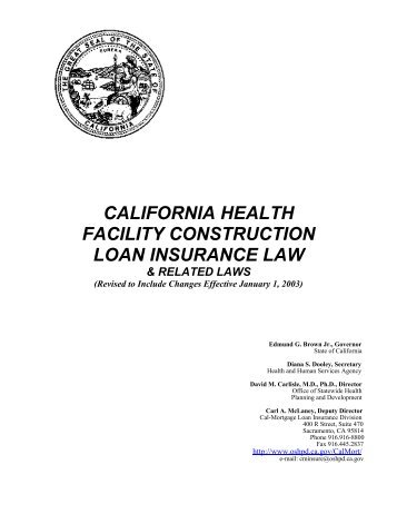Cal-Mortgage Statutes - Office of Statewide Health Planning and ...