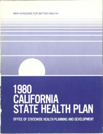 Preface - Office of Statewide Health Planning and Development