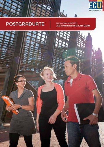 Postgraduate international course guide - Edith Cowan University