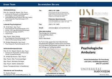 OSI Flyer 2012 - Otto-Selz-Institut für Angewandte Psychologie ...