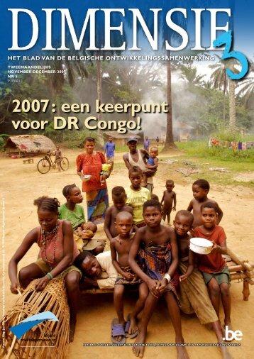 2007: een keerpunt voor DR Congo! - Buitenlandse Zaken
