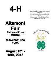 4-H Exhibitor Guidebook - The Altamont Fair