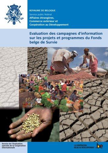 Rapport d'évaluation (PDF, 8.75 MB) - Belgium