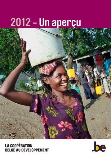 DGD Rapport annuel 2012 - Résumé - Belgium