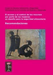 El acceso y el control de los recursos por parte de las mujeres: un ...