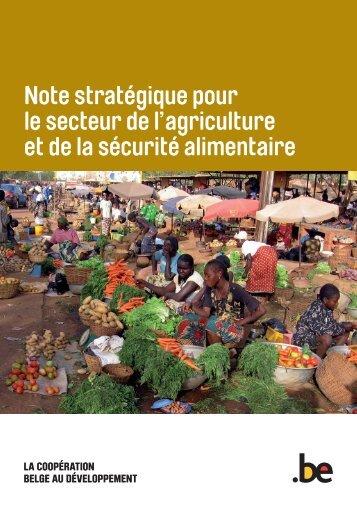 """Note stratégique """"Agriculture et Sécurité alimentaire"""" - Belgium"""