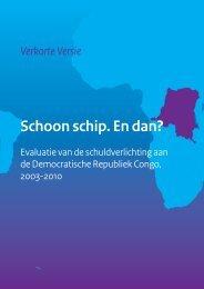 Evaluatie van de schuldverlichting - Buitenlandse Zaken - Belgium