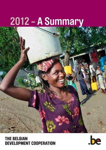 DGD Annual Report 2012 - Summary - Belgium