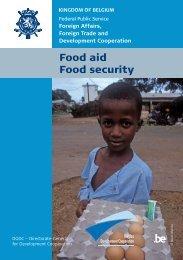 download the brochure 'Food aid - Food security' - Belgium