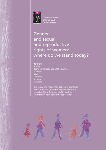 Gender and sexual and reproductive rights of women ... - Belgium