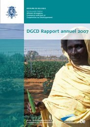 DGCD Rapport annuel 2007