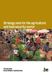 Strategy note for the agriculture and food security sector - Belgium