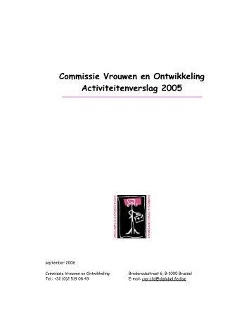 Activiteitenverslag 2005 - Buitenlandse Zaken