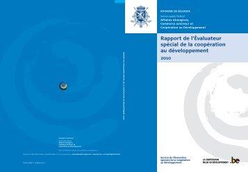 Rapport de l'Évaluateur spécial de la coopération au ... - Belgium